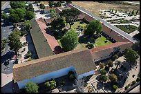 Aerial view of Mission San Miguel complex. California, USA ( color)