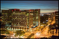 Adobe corporate headquarters at dusk. San Jose, California, USA ( color)