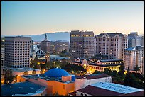 San Jose skyline at dawn. San Jose, California, USA ( color)