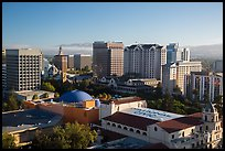 City National Civic, Tech Museum, and city skyline. San Jose, California, USA ( color)
