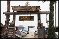 Dory Fishing Fleet fishing cooperative. Newport Beach, Orange County, California, USA ( color)