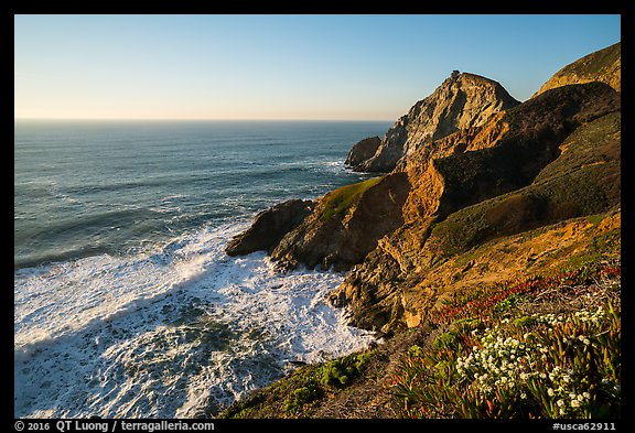 Devils slide, late afternoon. San Mateo County, California, USA (color)
