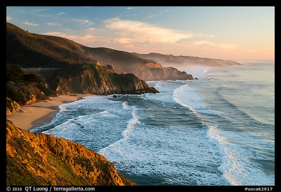 Surf, Grey Whale Cove and Montara. San Mateo County, California, USA (color)