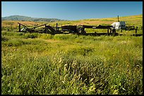 Abandonned agricultural machinery, Traver Ranch. Carrizo Plain National Monument, California, USA ( color)