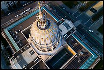 Aerial view of City Hall roof. San Francisco, California, USA ( color)