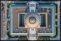 Aerial view of City Hall looking down. San Francisco, California, USA ( color)