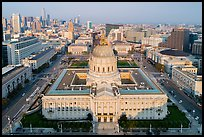 Aerial view of City Hall and Civic Center. San Francisco, California, USA ( color)
