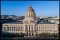 Aerial view of City Hall. San Francisco, California, USA ( color)