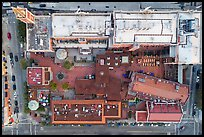 Aerial view of Ghirardelli looking down. San Francisco, California, USA ( color)