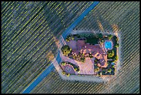 Aerial view of winery looking straight down. Livermore, California, USA ( color)
