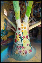Artificial tree inside Salvation Mountain. Nyland, California, USA ( color)