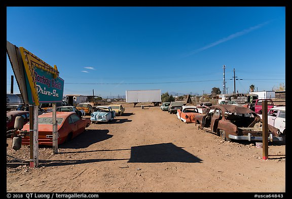 Bombay Beach drive in theater. California, USA (color)