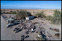 Aerial view of Slab City dwelling. Nyland, California, USA ( color)