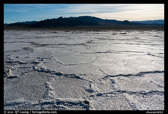 Salt flats near Amboy. California, USA (color)