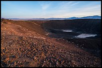 Inside Amboy Crater at sunset. Mojave Trails National Monument, California, USA ( color)