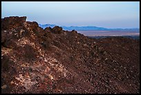 Rim of Amboy Crater at sunset. Mojave Trails National Monument, California, USA ( color)