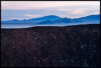 Amboy Crater rim and mountains. Mojave Trails National Monument, California, USA ( color)