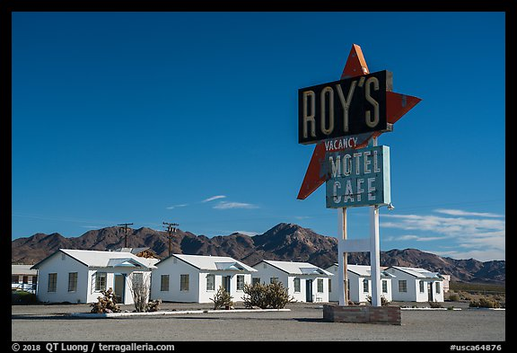 Roys Motel, Amboy. California, USA (color)