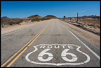 National Trails Highway route 66 marker. California, USA ( color)