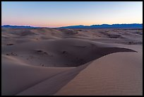 Dusk, Cadiz Dunes Wilderness. Mojave Trails National Monument, California, USA ( color)