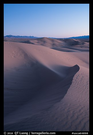 Cadiz Dunes at dusk. Mojave Trails National Monument, California, USA (color)