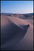 Cadiz Dunes at dusk. Mojave Trails National Monument, California, USA ( color)