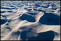 Aerial view of ridges and shadows, Cadiz Sand Dunes. Mojave Trails National Monument, California, USA ( color)