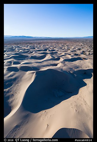Aerial view of Cadiz dunes and valley. Mojave Trails National Monument, California, USA (color)