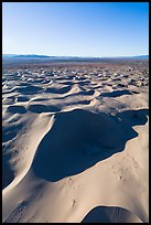 Aerial view of Cadiz dunes and valley. Mojave Trails National Monument, California, USA ( color)