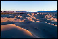 Aerial view of Cadiz dunes and mountains at sunset. Mojave Trails National Monument, California, USA ( color)