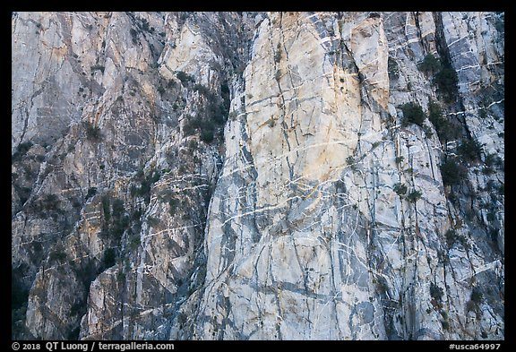 Striated cliff in Chino Canyon, north face of San Jacinto Peak. Santa Rosa and San Jacinto Mountains National Monument, California, USA (color)