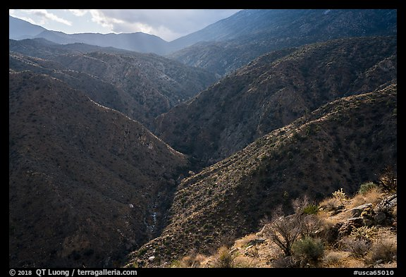 Deep Canyon and Santa Rosa Mountains. Santa Rosa and San Jacinto Mountains National Monument, California, USA (color)