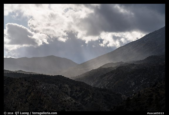 Showers and clouds over Santa Rosa Mountains. Santa Rosa and San Jacinto Mountains National Monument, California, USA (color)