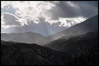 Showers and clouds over Santa Rosa Mountains. Santa Rosa and San Jacinto Mountains National Monument, California, USA ( color)