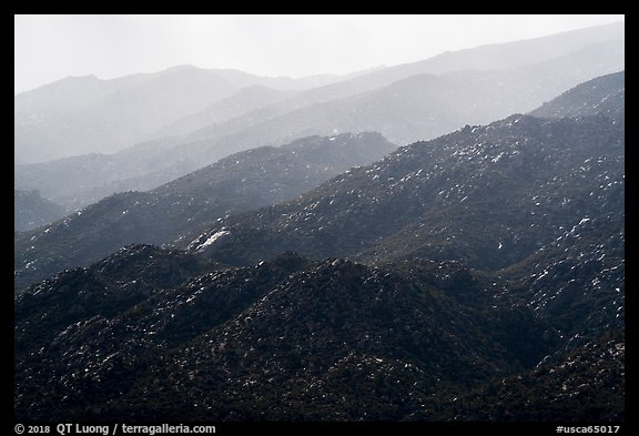 Santa Rosa Mountains ridges. Santa Rosa and San Jacinto Mountains National Monument, California, USA (color)