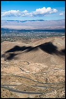Highway 74 and Coachella Valley. Santa Rosa and San Jacinto Mountains National Monument, California, USA ( color)