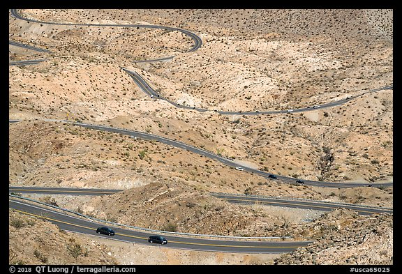 Highway 74 switchbacks. Santa Rosa and San Jacinto Mountains National Monument, California, USA (color)