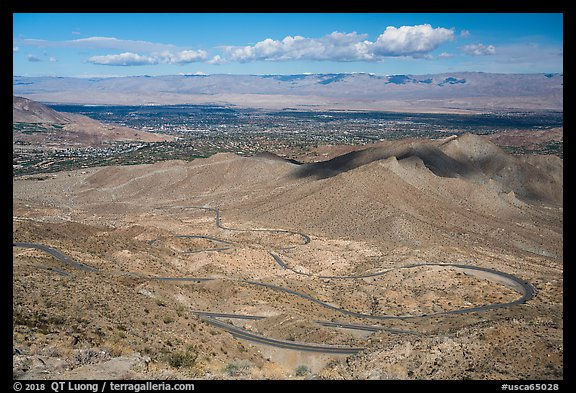 Coachella Valley and Palms to Pines Scenic Highway. Santa Rosa and San Jacinto Mountains National Monument, California, USA (color)