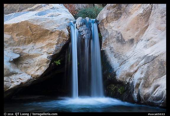 Five-foot waterfall, Tahquitz Canyon, Palm Springs. Santa Rosa and San Jacinto Mountains National Monument, California, USA (color)