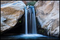 Five-foot waterfall, Tahquitz Canyon, Palm Springs. Santa Rosa and San Jacinto Mountains National Monument, California, USA ( color)