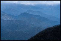 Blue ridges. San Gabriel Mountains National Monument, California, USA ( color)