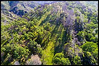 Aerial view of hillside, Cache Creek Wilderness. Berryessa Snow Mountain National Monument, California, USA ( color)