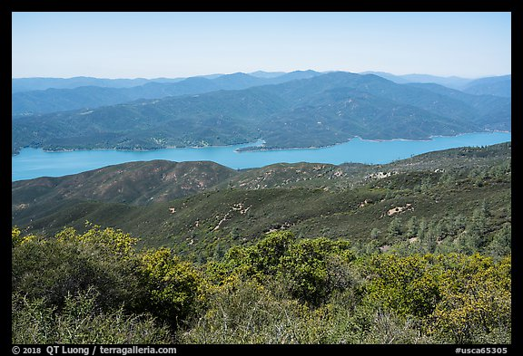 Indian Springs Reservoir from Walker Ridge. Berryessa Snow Mountain National Monument, California, USA (color)