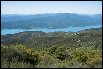 Indian Springs Reservoir from Walker Ridge. Berryessa Snow Mountain National Monument, California, USA ( color)
