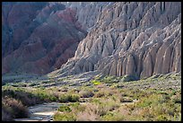 Flutted canyon walls, Afton Canyon. Mojave Trails National Monument, California, USA ( color)