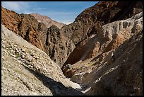 Narrow side canyon, Afton Canyon. Mojave Trails National Monument, California, USA ( color)