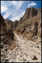 Wash in narrow side canyon, Afton Canyon. Mojave Trails National Monument, California, USA ( color)