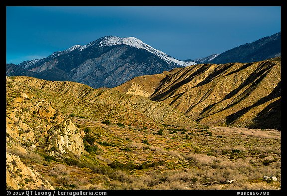 San Giorgono Mountains from Mission Creek valley. Sand to Snow National Monument, California, USA (color)