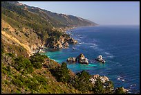 Costline from Partington Point, Julia Pfeiffer Burns State Park. Big Sur, California, USA ( color)