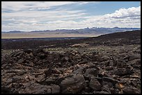 Basaltic pahoehoe lava plain. Mojave Trails National Monument, California, USA ( color)